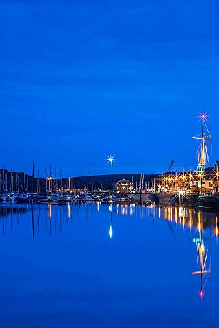 Kinsale Harbour at night